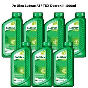 kit-7-unidades-oleo-lubrax-atf-tdx-dexron-iii-500ml