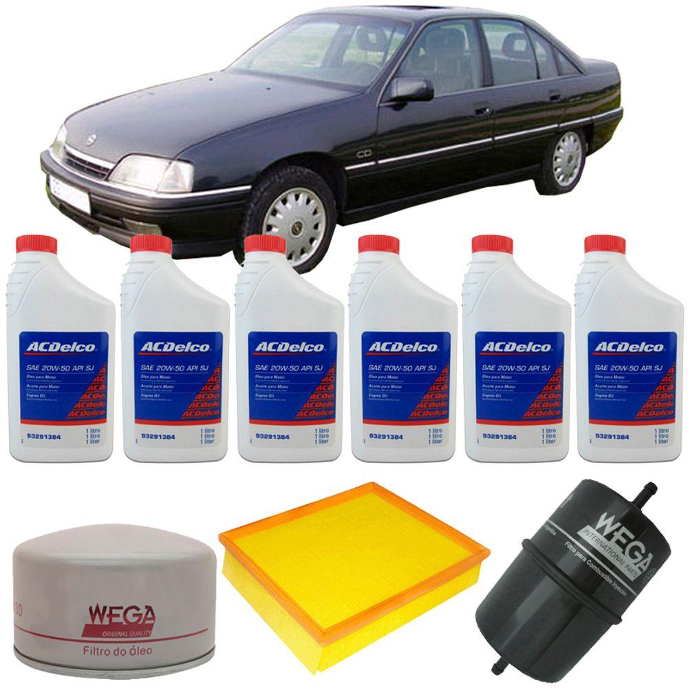 Kit Troca de Óleo 20w50 Chevrolet Omega 3 0 12V 1992 a 1994