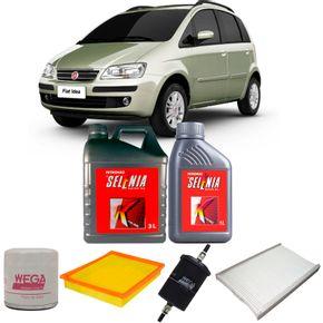 kit-troca-oleo-selenia-15w40-fiat-idea-1.8-flex-2005-a-2010