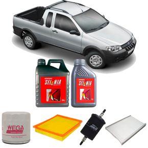 kit-troca-de-oleo-selenia-fiat-strada-1.8-8v-flex-2004-a-2009