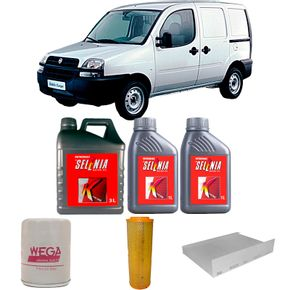 kit-troca-de-oleo-selenia-15w40-fiat-doblo-1.6-cargo-2001-a-2006