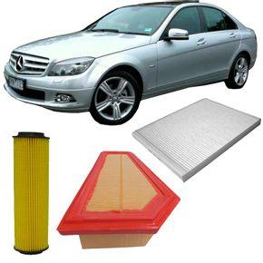 Kit-Filtro-Mercedes-C200-1.8-Turbo-Gasolina-CGI-2009-a-2014