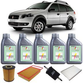Kit-Oleo-Selenia-5w30-Fiat-Palio-Weekend-Flex-2010-A-2012