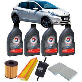 Kit-Oleo-Total-5w30-Sintetico-Peugeot-208-1.5-Flex-2013-A