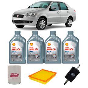 Kit-Oleo-Shell-5w30-Fiat-Siena-1.4-Tetra-Fuel-2007-A-2012