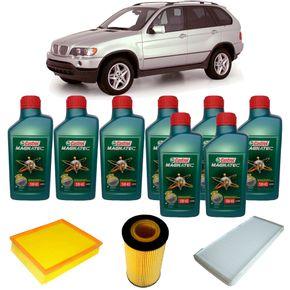 Kit-Troca-De-Oleo-Castrol-5w40-Bmw-X5-4.4-2000-A-2003