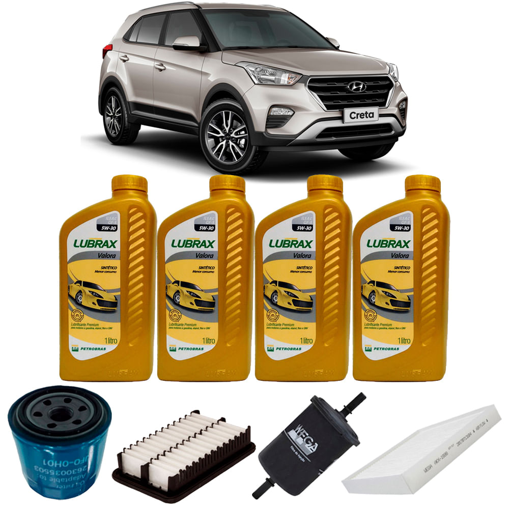 Kit Troca Oleo Lubrax W Hyundai Creta V Flex  A
