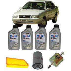 Kit-Troca-Oleo-Mobil-20W50-Volkswagen-Santana-2.0-8V-1993-a-1996