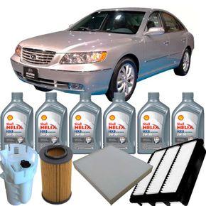 Kit-Troca-Oleo-Shell-Helix-5W30-Azera-3.3-V6-2011-em-diante