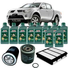 Kit-Troca-Oleo-Castrol-10W40-Mitsubishi-L200-Triton-3.2-2008-a-2010