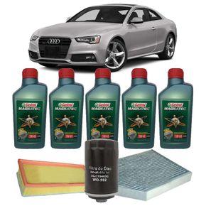 Kit-Troca-Oleo-Castrol-5W40-Audi-A5-2.0-2008-em-diante